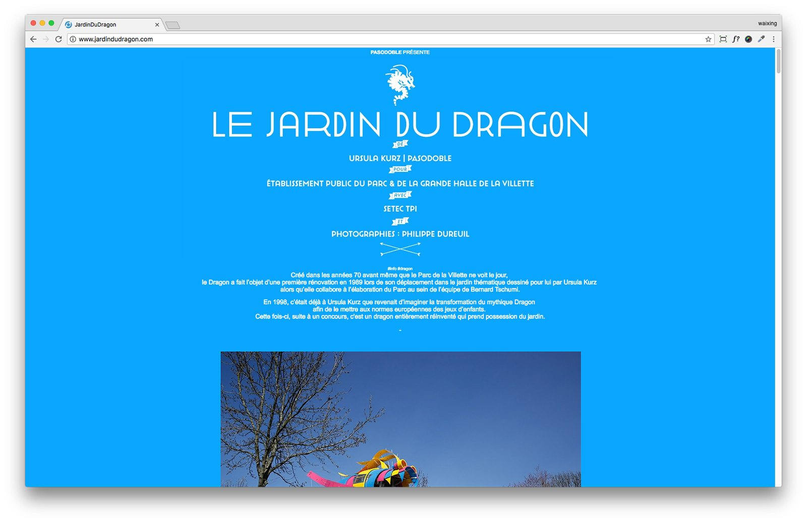Jardin du Dragon – Parc de la Villette